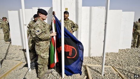 Desert Rats flag raised
