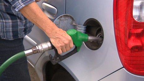 A Lincolnshire driver fills her car