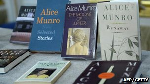A selection of Alice Munro's books