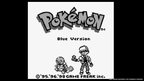 The title screen for Pokemon Blue