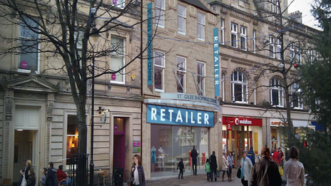 Artist's impression of the extension to the St Giles Centre