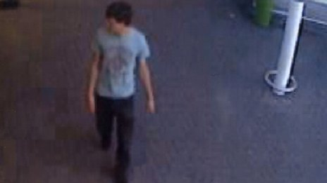 CCTV of a man police want to trace