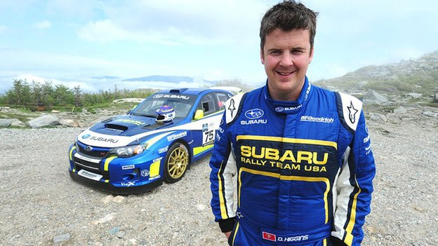 David Higgins, Rally America champion, with his works Subaru WRX STI
