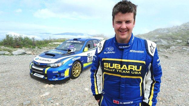 David Higgins, Rally America champion, with his works Subaru WRX STI