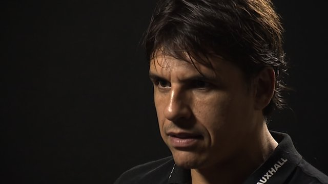 Chris Coleman being interviewed