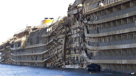The wreck of the Costa Concordia