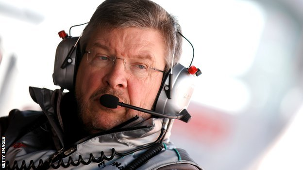 Mercedes team principal Ross Brawn