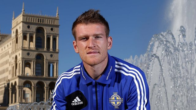 Northern Ireland captain Steven Davis in Baku