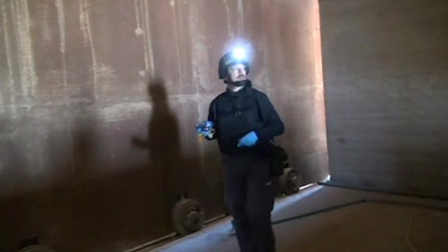 UN chemical weapons inspectors examining site in Syria