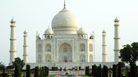 The Taj Mahal, one of the most iconic buildings in India and the world
