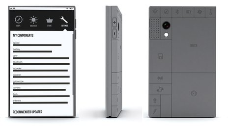 Phonebloks side on, front and rear