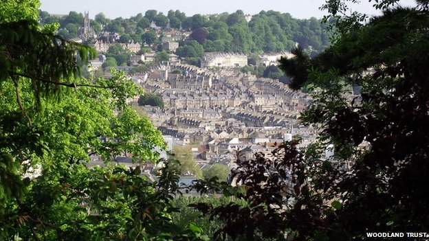 Beechen Cliff, overlooking Bath