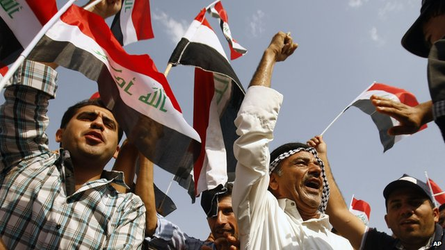Protesters in Iraq