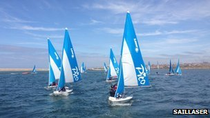 SailLaser sailing at the Weymouth and Portland National Sailing Academy