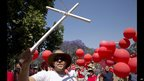 A protest about the number of white farmers murdered, Pretoria, South Africa - Thursday 10 October 2013