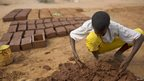 A makes bricks from mud, Dadaab, Kenya - Wednesday 9 October 2013