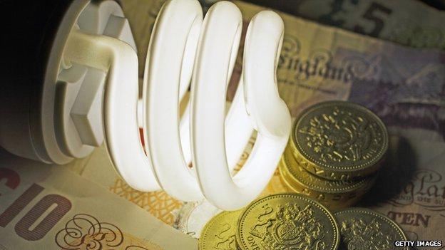 Energy saving light bulb with cash