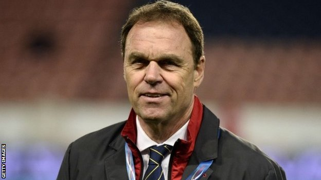 "Australia""s head coach Holger Osieck waits for the beginning of their match with France"