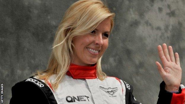 Spanish Formula One driver Maria de Villota