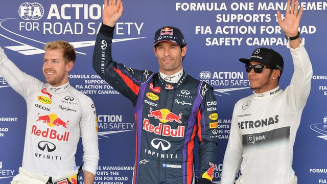 Mark Webber pole