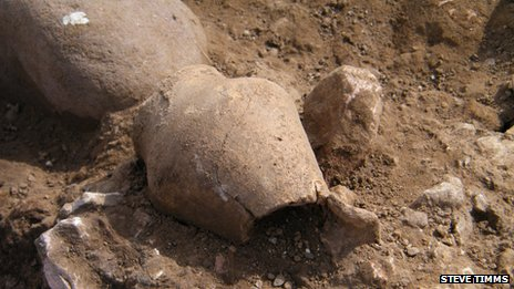 Roman pottery discovered at Potgate Quarry