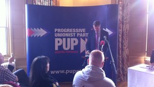 Irish News editor Noel Doran addressed the PUP conference on Saturday