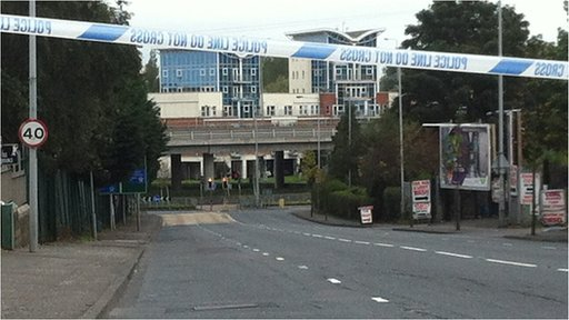 The security alert has been causing problems for motorists coming in and out of Belfast