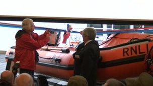 Lifeboat station opening
