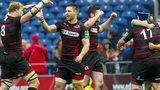 Edinburgh celebrate a 29-23 win over Munster