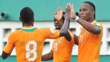 Ivory Coast internationals Salomon Kalou, Gervinho and Didier Drogba