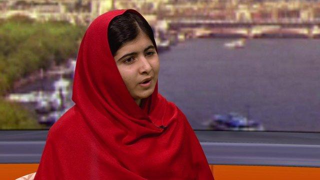 Malala Yousafzai on the Andrew Marr Show