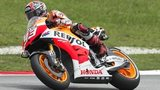 Marc Marquez in full flow at the Malaysian GP