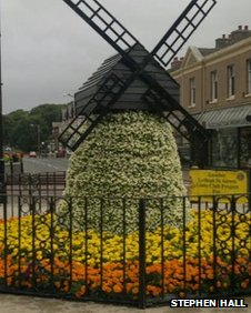 Windmill floral display in Lytham Square