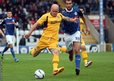 Newport County captain David Pipe has a shot on goal during his side's League Two game at Rochdale.
