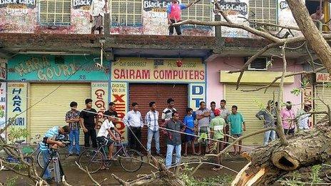 Storm damage in Berhampur