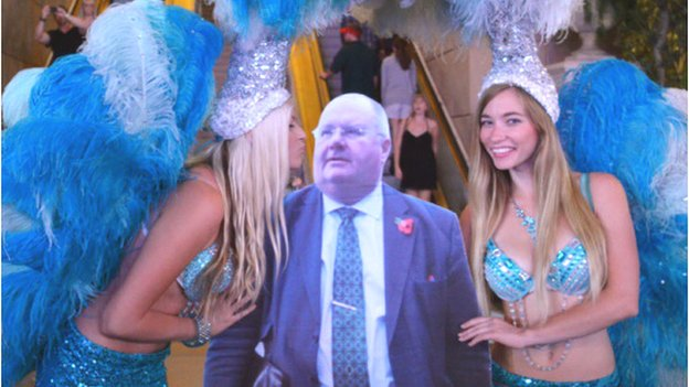 Eric Pickles cut out in Las Vegas