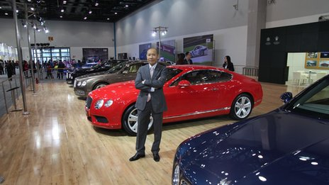 Raymond Leung, general manager of Bentley's Beijing showroom