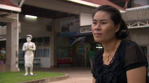 survivor of cervical cancer