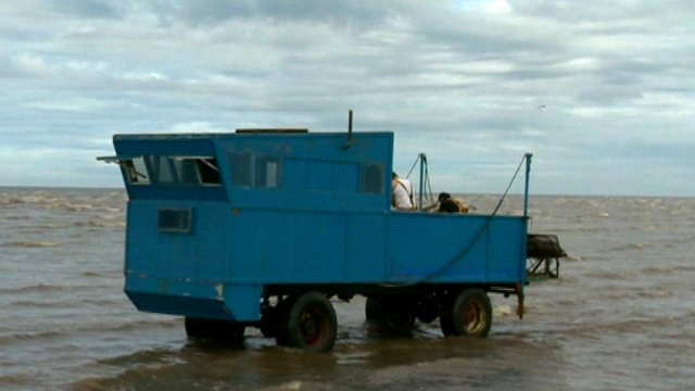 Shrimping truck