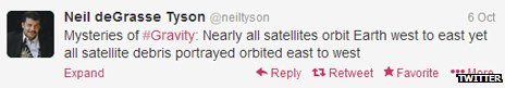 One of Neil deGrasse Tyson's tweets