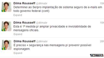 President Rousseff tweets