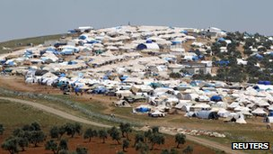 A refugee camp near Atma on the Turkish border
