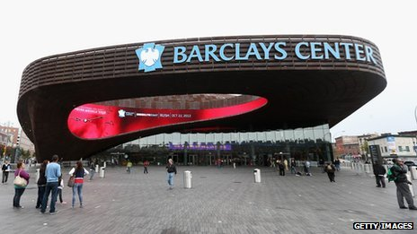 Exterior of the Barclays Center