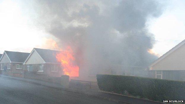 The fire scene in Hakin