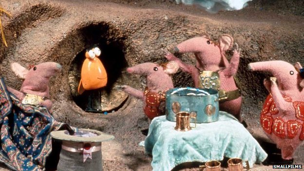 The Clangers - copyright Smallfilms, created by Oliver Postgate and Peter Firmin