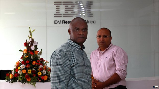 Dr Kamal Bhattacharya, Director IBM Research - Africa (right) and Dr Uyi Stewart, Chief Scientist, IBM Research - Africa  (left)
