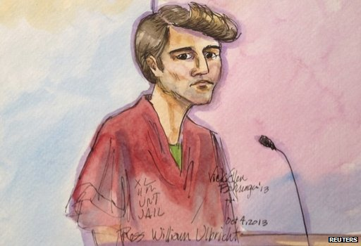 Drawing of Ross William Ulbricht