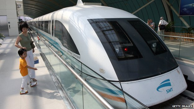 Magnetic levitation train, Shanghai