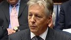 Peter Robinson speaking in the assembly