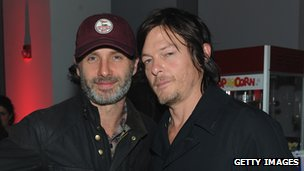 Andrew Lincoln and fellow Walking Dead actor Norman Reedus